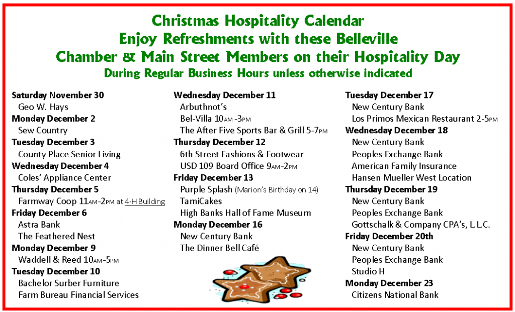 Republic County Christmas Events