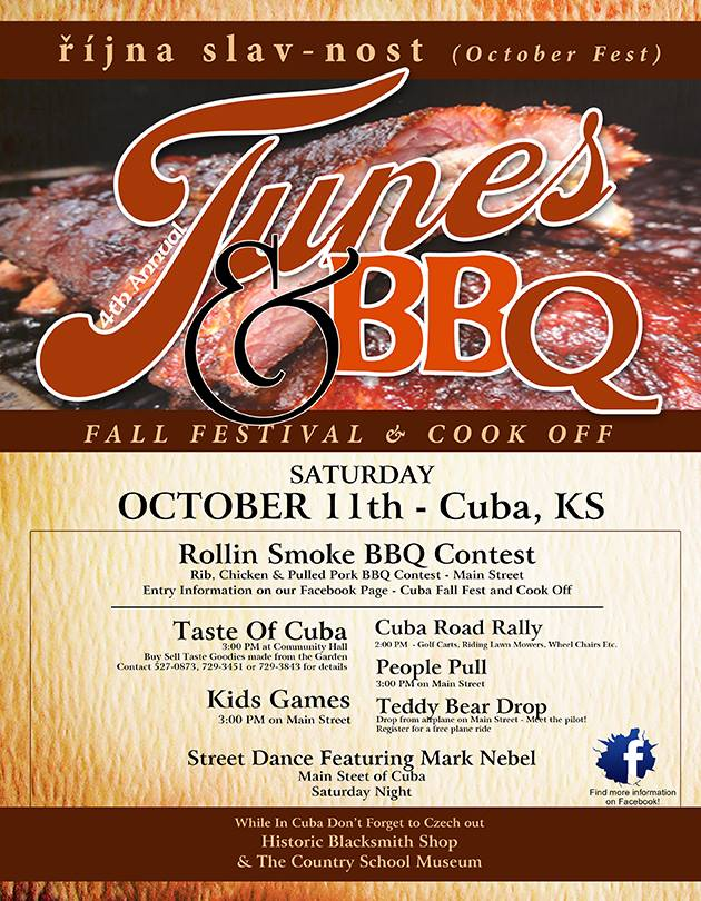 Cuba Fall Fest & Cook Off Oct. 11th