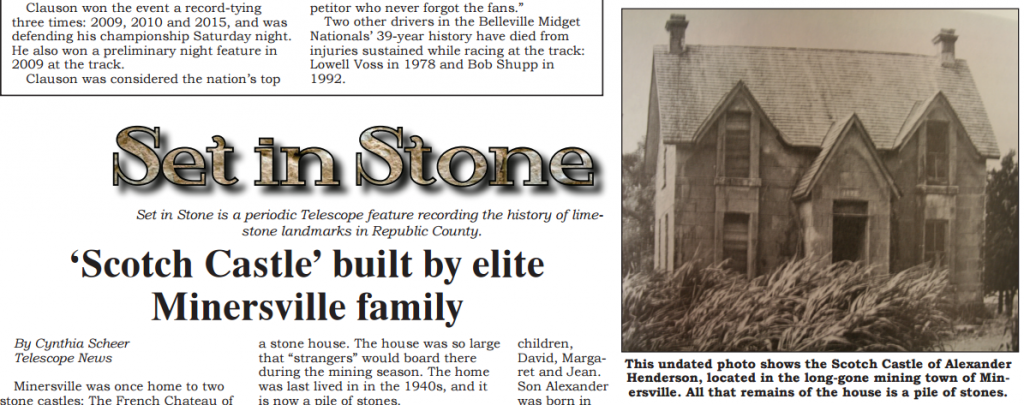 Set in Stone: Scotch Castle / French Chateau – Minersville