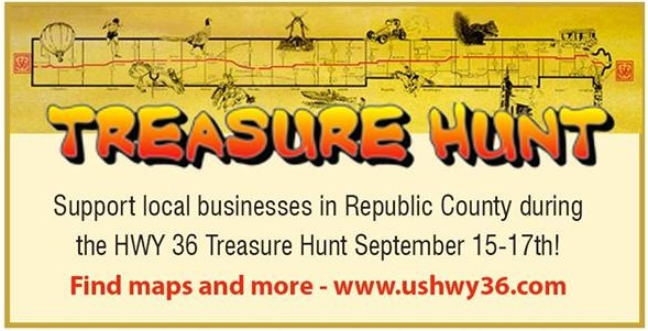 HWY 36 Treasure Hunt – Sept. 15-17th