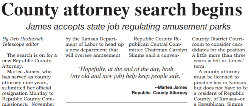 County attorney search begins